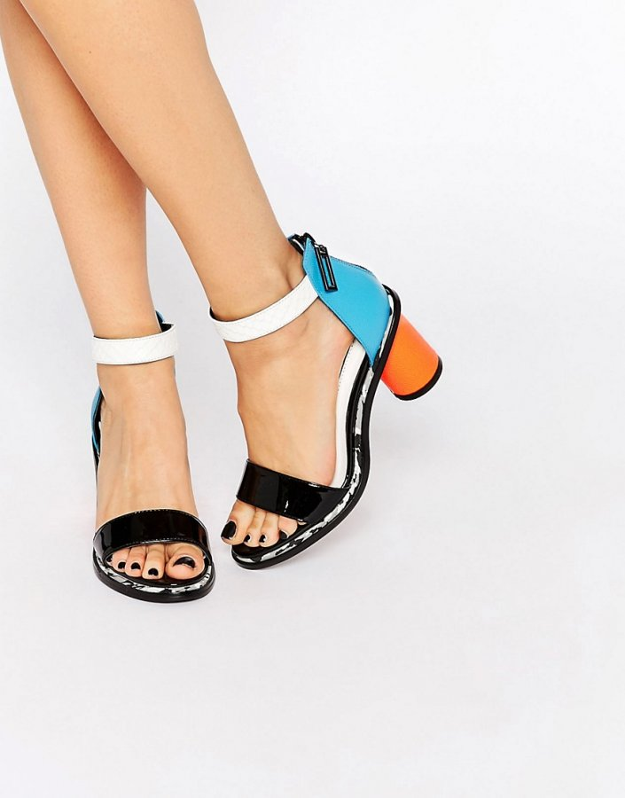 Neive Multi Coloured Block Heeled Sandals