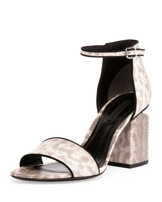 Abby Snakeskin Tilt-Heel City Sandal