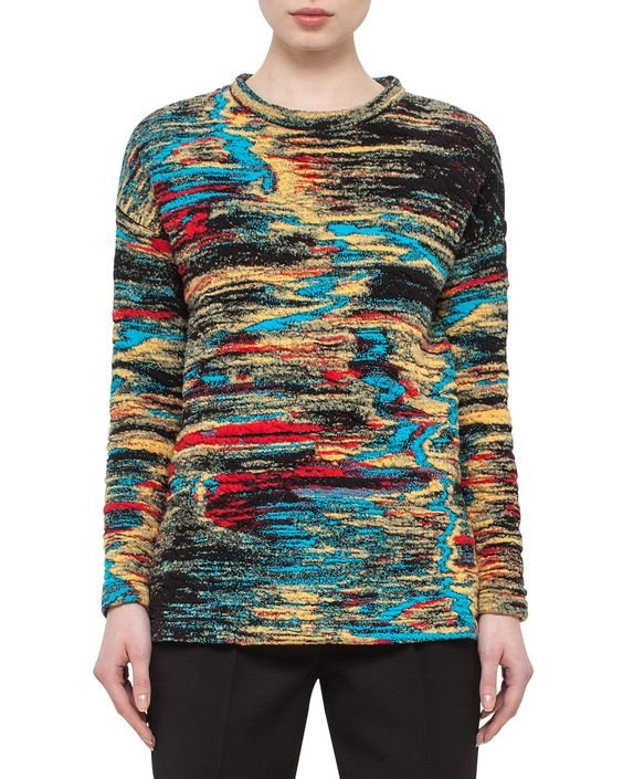 Jacquard Side-Vent Sweatshirt