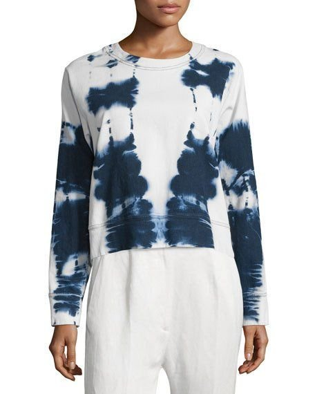 Beach Batik Cotton-Blend Sweatshirt