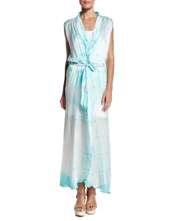 Royal Hawaiian Tie-Dye Maxi Dress