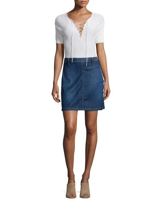 Antibes Denim Straight Skirt