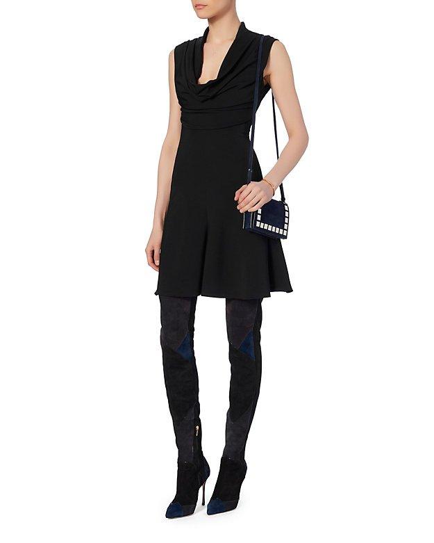Draped Neckline Dress