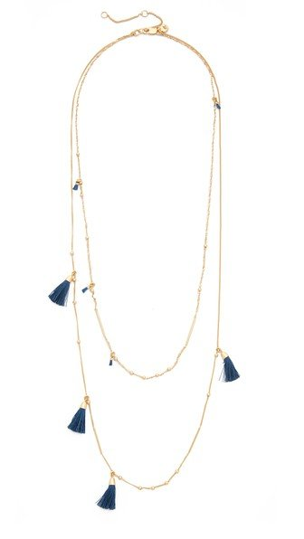 Tassel Layered Chain Necklace