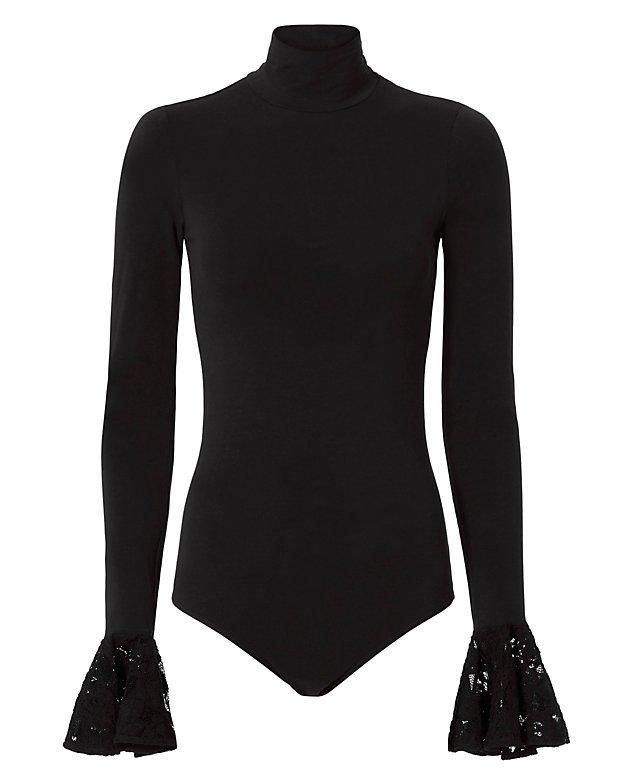 Cinq à Sept Lace Cuff Bodysuit - INTERMIX