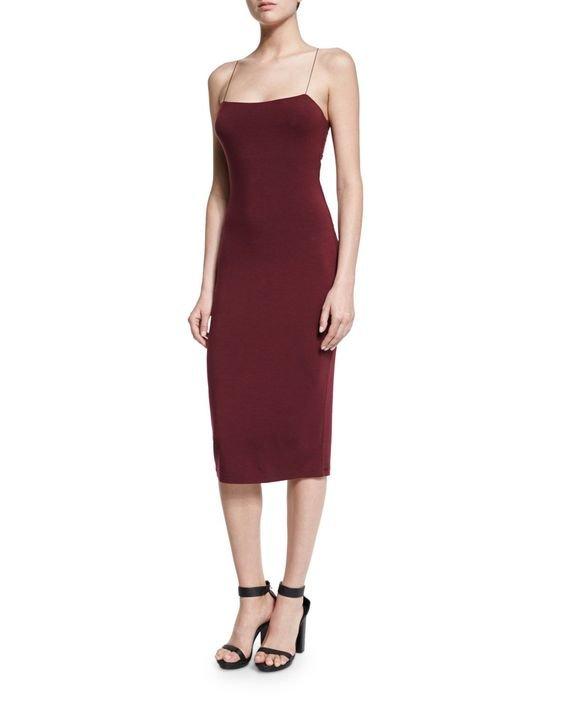 Strappy Camisole Midi Dress