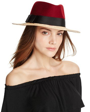 kate spade new york Wool & Raffia Fedora | Bloomingdale\'s