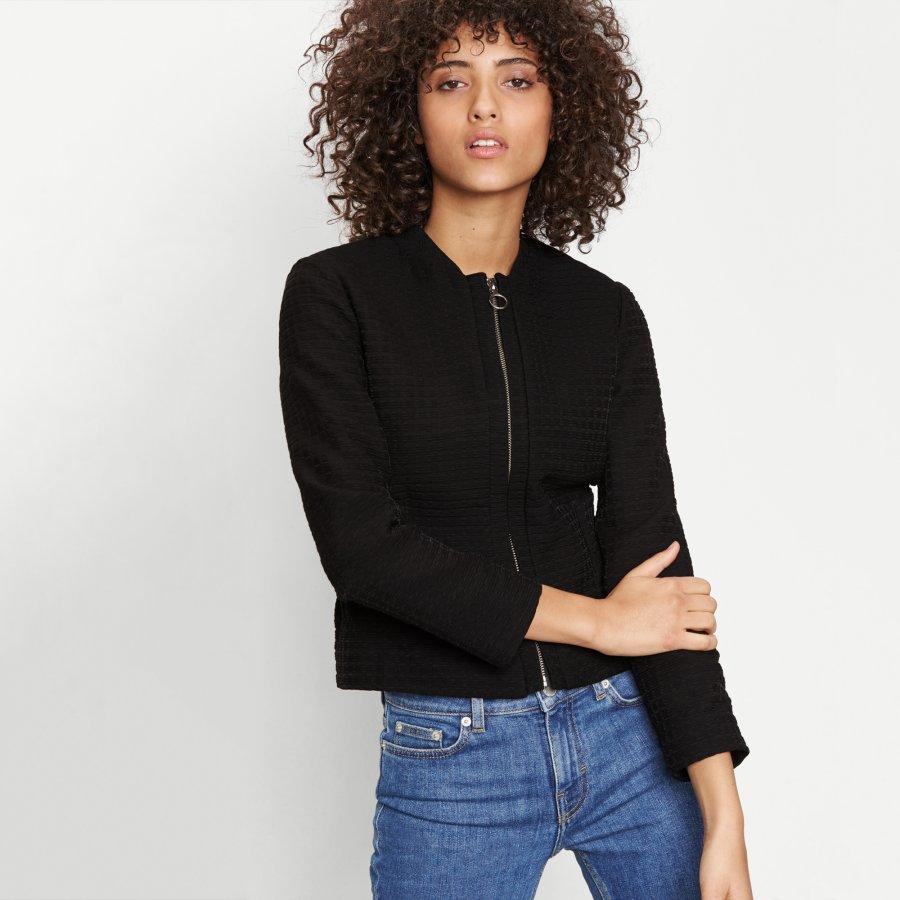 Jacket with elasticated waist