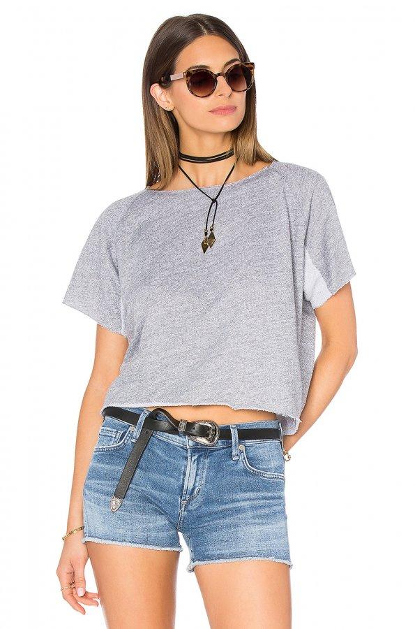 Cut Off Mini Raglan Sweatshirt