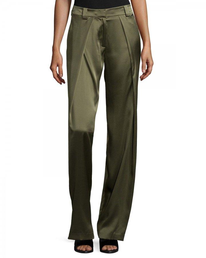 Draped Silk Pants