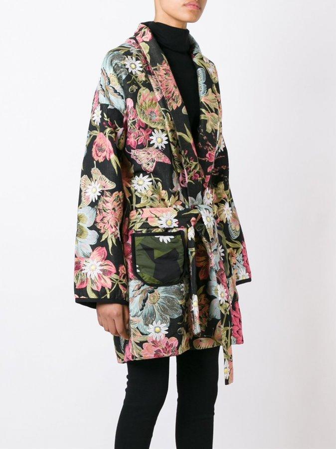 Nature Print Reversible Kimono