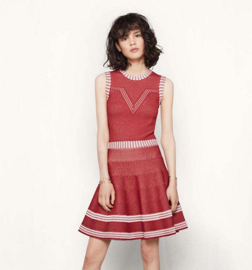 ROMY Jacquard knit sleeveless dress