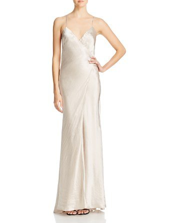 Shimmering Wrap Gown