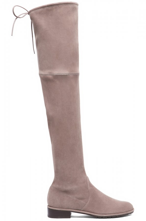 Lowland Suede Boots in Taupe