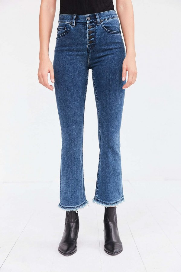 Sharona High-Rise Crop Flare Jean