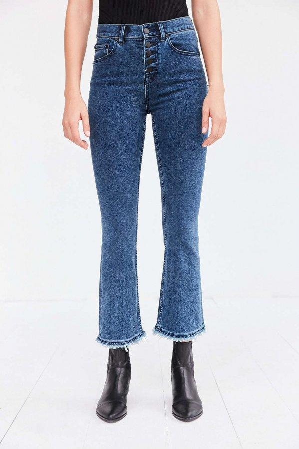 Sharona High-Rise Crop Flare Jean
