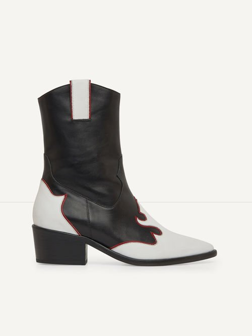 FUEGAN Two-tone leather cowboy boots
