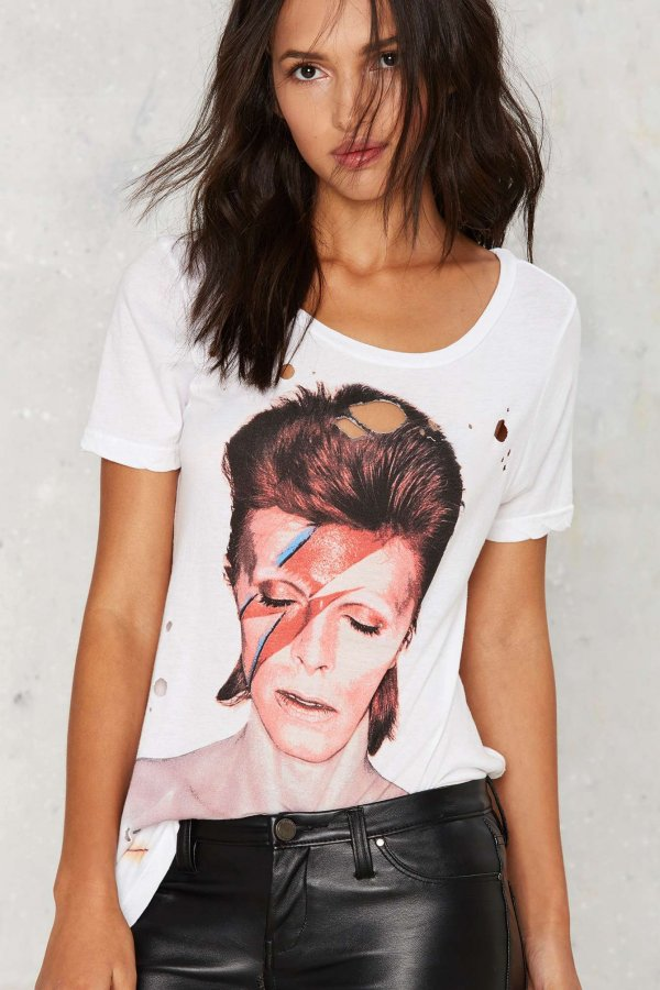 David Bowie Aladdin Sane Shredded Tee