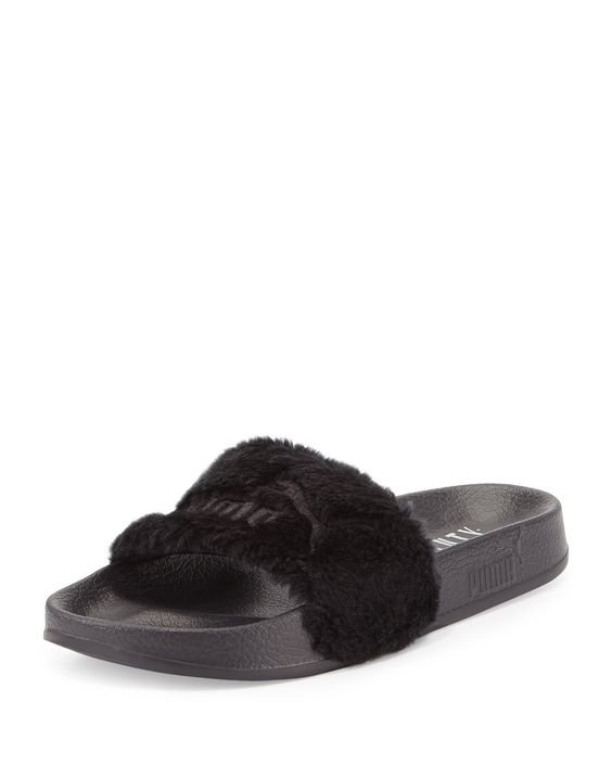 FENTY PUMA Leadcat Fenty Faux-Fur Slides