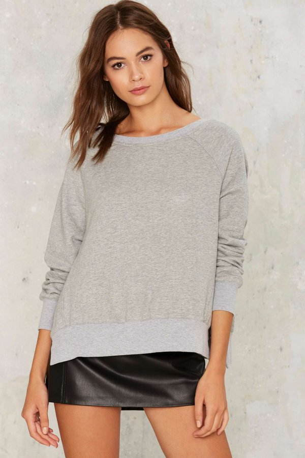 Tear Slit Sweatshirt