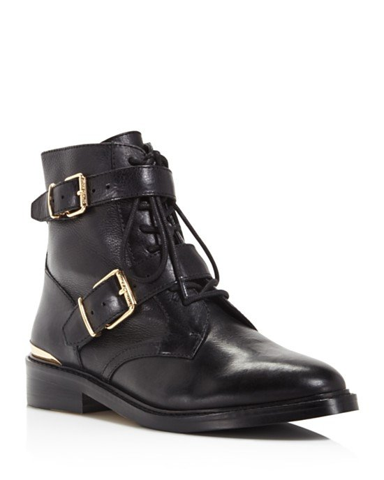 Tokode Lace Up Combat Booties