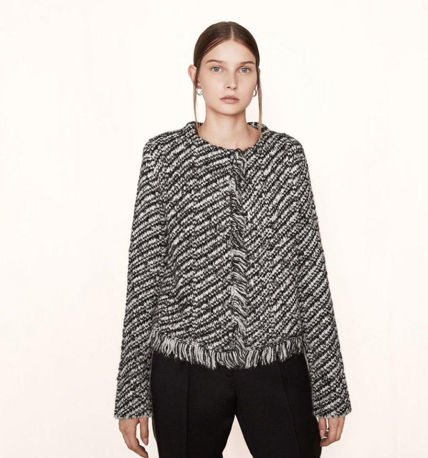 Decorative knit cardigan