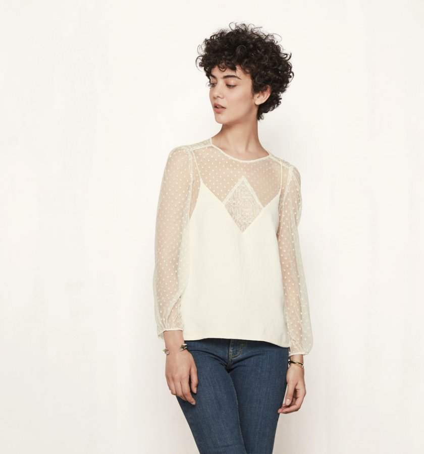 Top with trompe-l\'oeil effect