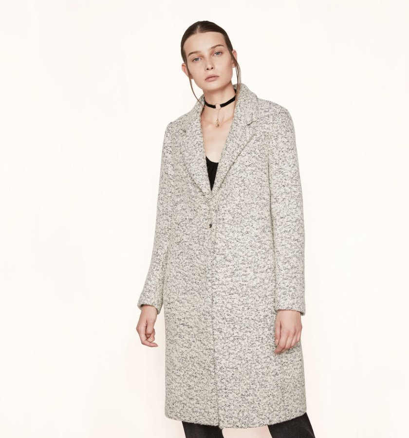Long bouclé coat