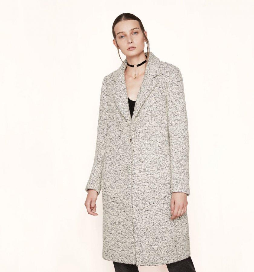 Long bouclé coat