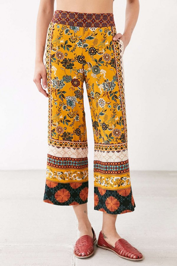 Lila Printed Crop Pull-On Pant