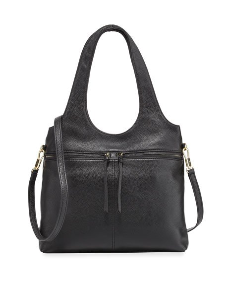 Zoe Small Carryall Tote Bag, Black