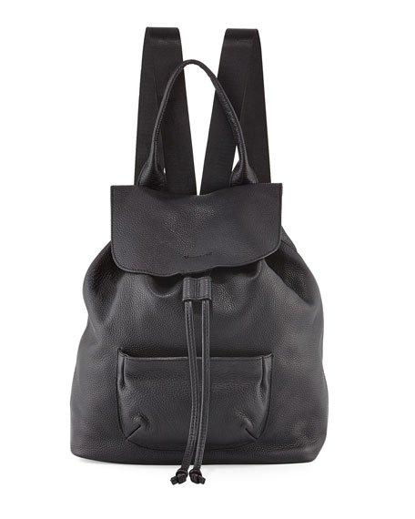 Elizabeth and James Langley Leather Backpack, Black