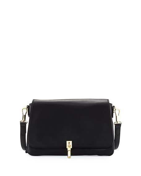 Elizabeth and James Cynnie Micro Leather Crossbody Bag, Black