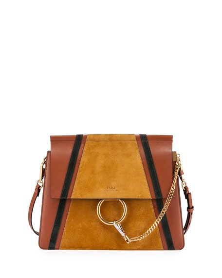 Faye Medium Patchwork Shoulder Bag