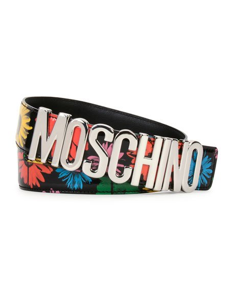 Floral Patent Leather Belt