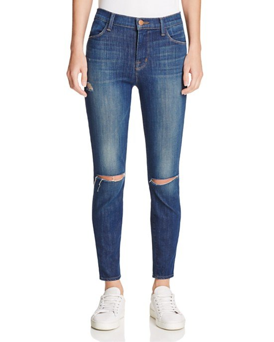 Alana Distressed Cropped Skinny Jean