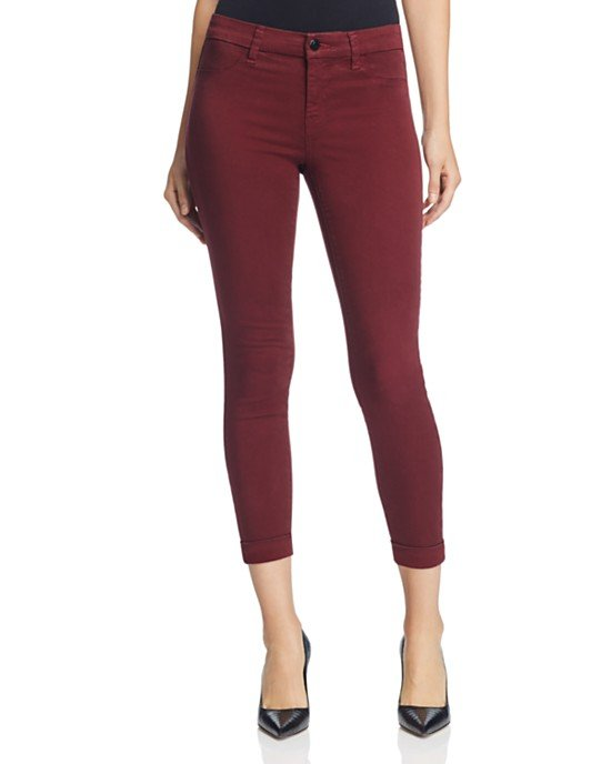 Luxe Sateen Anja Cuffed Crop Jean