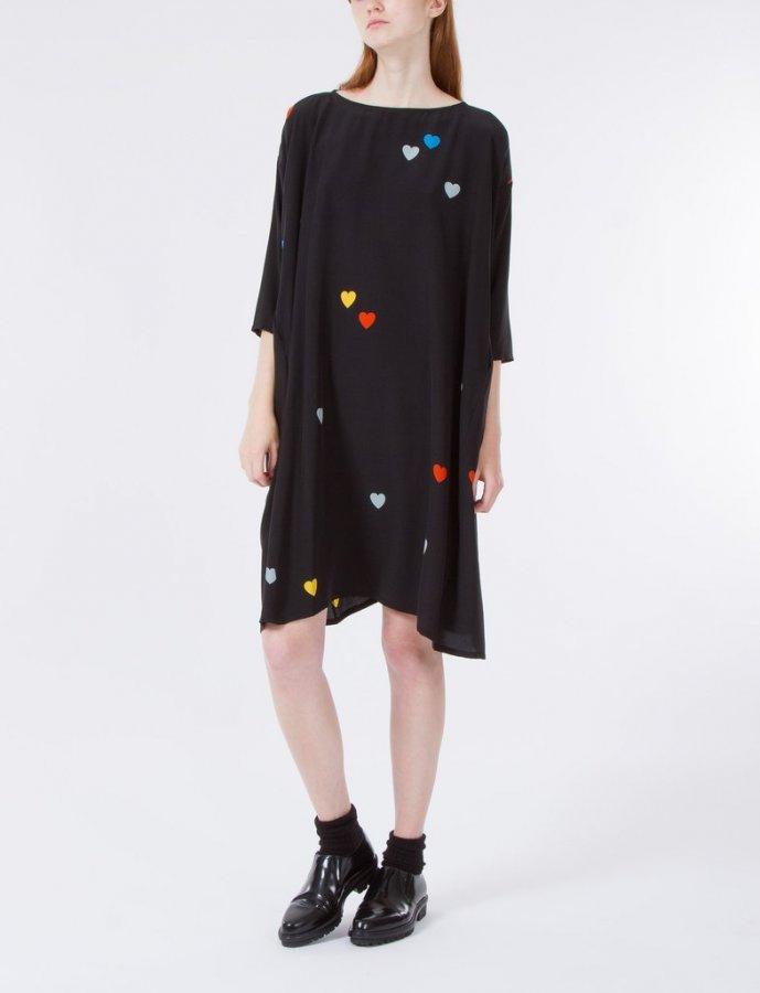 Roman Dress Heart Print