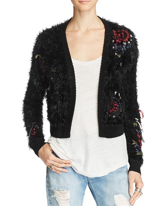 Treat Yourself Textured Open Cardigan