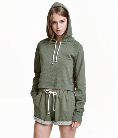 H&M Short Hooded Sweatshirt $17.99