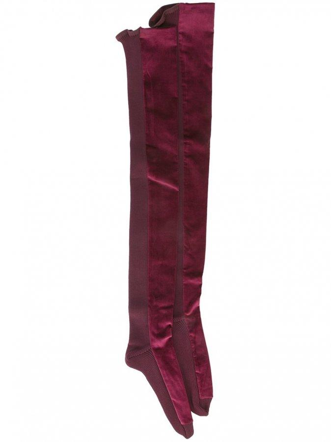 \\Velvet Trim Socks
