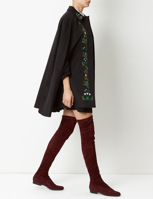 Burgundy Suede Thigh High Fetel Boots