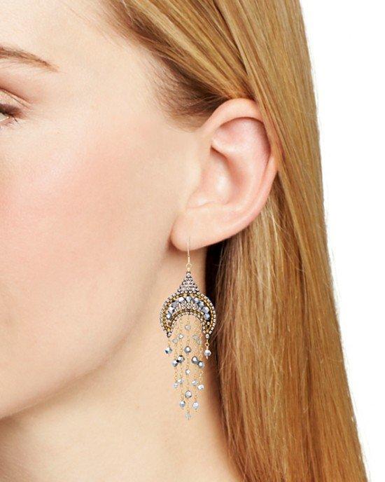 Beaded Dangle Drop Earrings