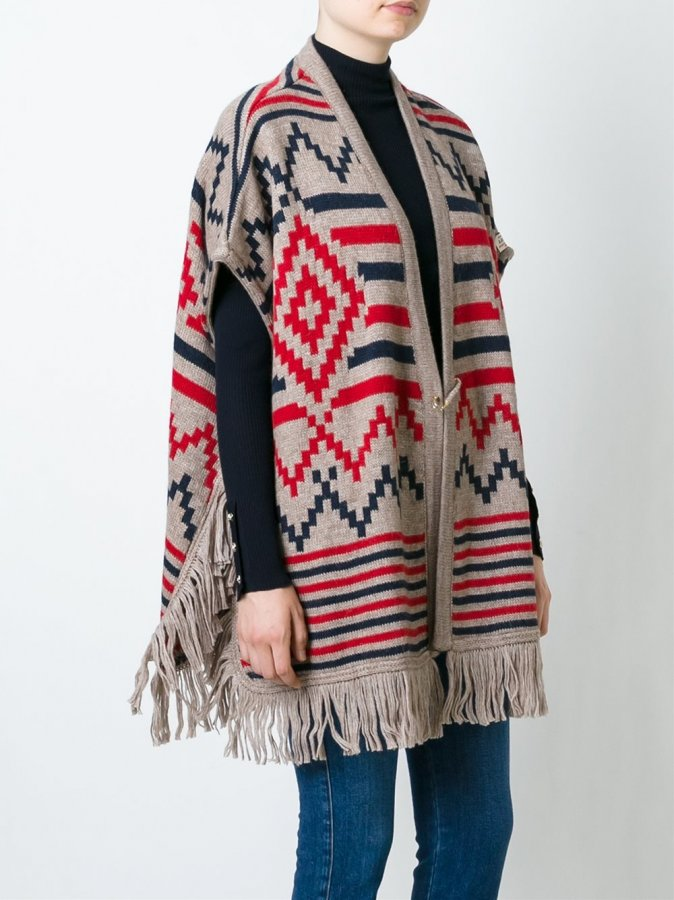 Woolrich Seasonal Pattern Cape