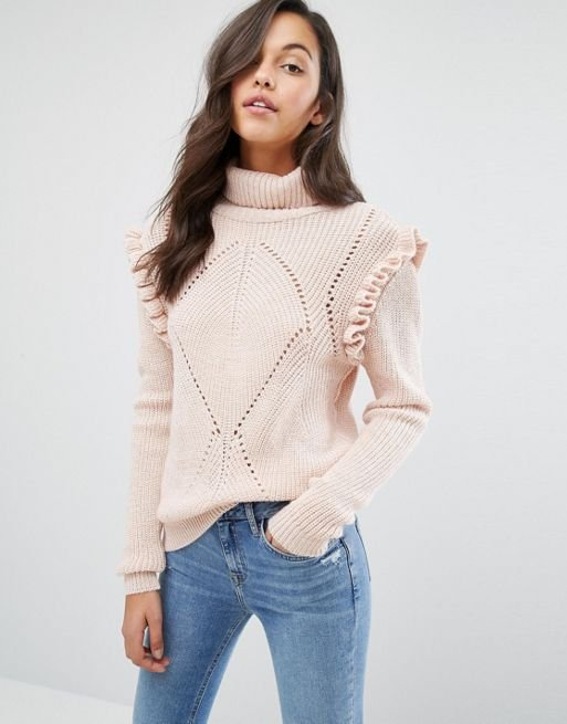 Chunky Frill Detail Jumper