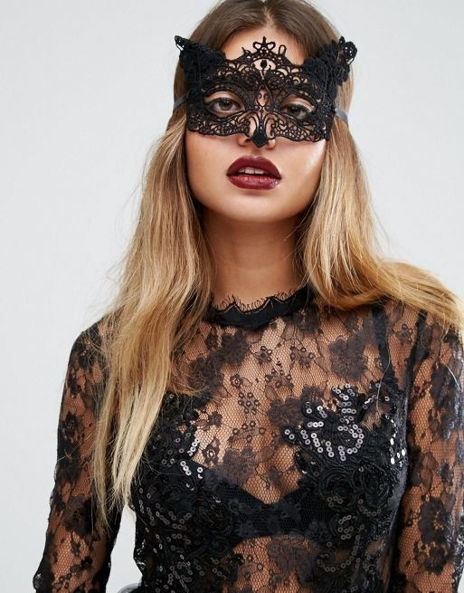 Halloween Animal Lace Mask
