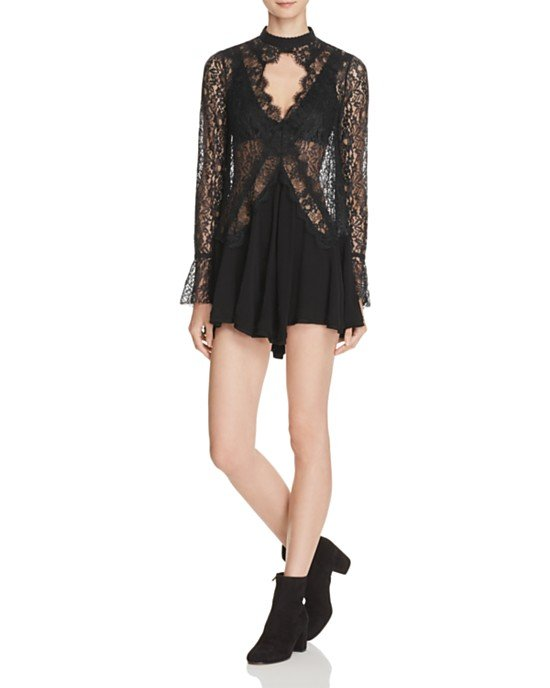 New Tell Tale Lace Mini Tunic Dress