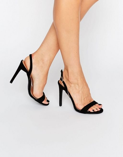 Boohoo Sling Back Barely There Heeled Sandal at asos.com