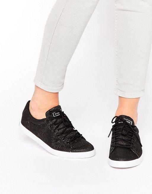 Sportif Black Glitter Agate Lo Sneakers