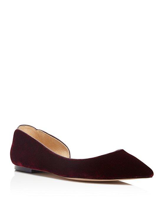 Reema Velvet d\'Orsay Pointed Toe Flats